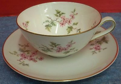 Vintage Hutschenreuther Selb Porcelain Cherry Blossoms Germany 2 Cups Saucers #2
