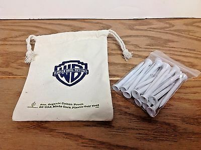 Canvas Bag of Warner Bros. GOLF TEE ~ Movie Studio Promo Swag Tees