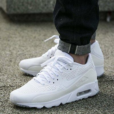 4db4472c NO BOX ** Men's Nike Air Max 90 Ultra Moire 819477-111 Triple White ...