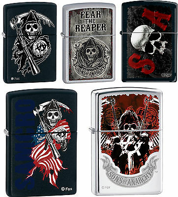 Zippo Sons of Anarchy SAMCRO SOA 5 Lighter Set Rare