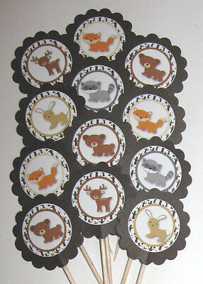 Woodland Animal Cupcake Toppers/Party Picks  Item #1011 Animals
