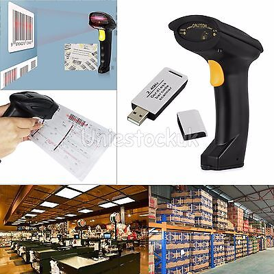 2.4G Wireless Portable Barcode Scanner Handheld Cordless USB Laser Scan Reader