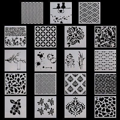 Layering Stencils DIY Scrapbooking Album Home Decor Embossing Crafts Gift