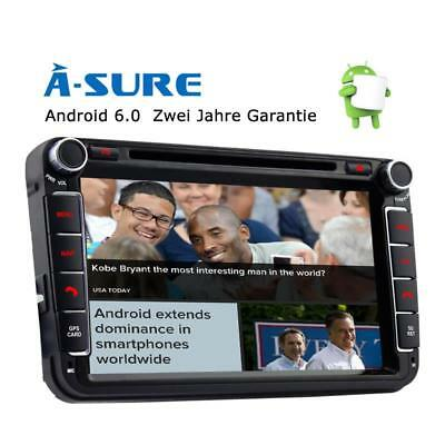 "8"" Android Quad CPU Autoradio DVD GPS für VW PASSAT GOLF 5 6 SEAT TOURAN T5 DAB+"
