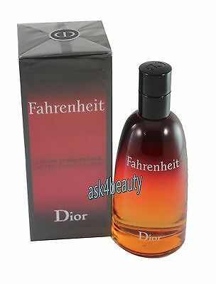 Fahrenheit By Dior  After Shave Lotion 3.4oz/100ml  For Men New in Box