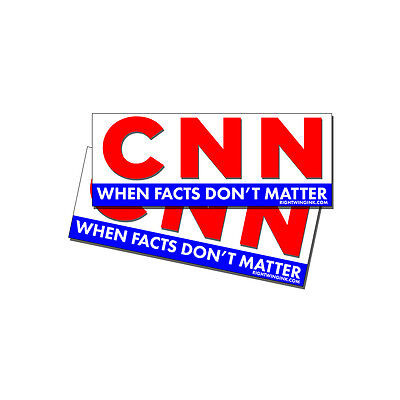 Anti CNN Fake News Pro Trump - FACTS DONT MATTER bumper stickers decals 2 Pack