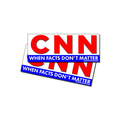 Anti Hillary Pro Trump CNN - FACTS DONT MATTER Anti Liberal STICKER decal 2 Pack