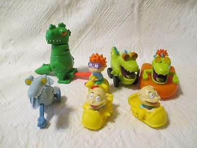 Lot  7 Rugrats Figures Burger King Chuckie Tommy Reptar