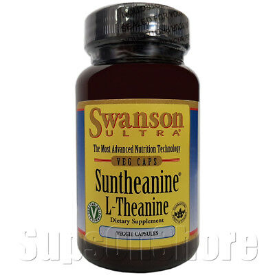 Swanson Ultra - Suntheanine - L-Theanine - 100 mg, 200 mg - 60 Veggie Capsules