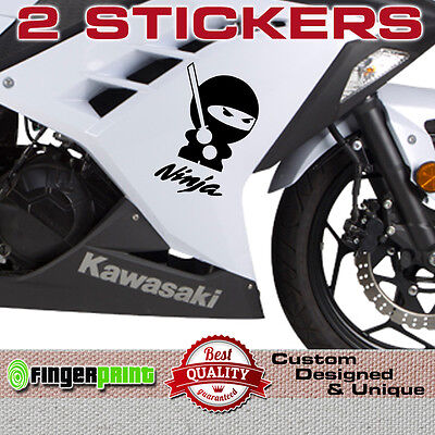 NINJA sticker decal vinyl japan kawasaki zx6 zx7 zx9 zx12 R bike fairing tank zx