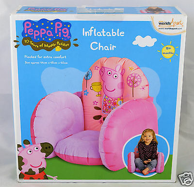 Peppa Pig Flocked Inflatable Childs Chair Pink 18+ months Weight limit 25kg