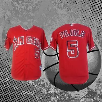 Los Angeles Angels of Anaheim 5# Albert Pujols Red Baseball Jersey