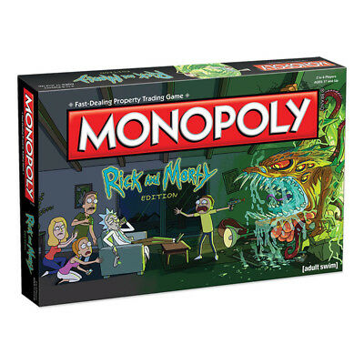 MONOPOLY Rick & Morty Edition Board Game NEW