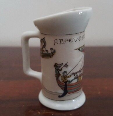 Miniature Limoges Bayeaux Tapestry Jug