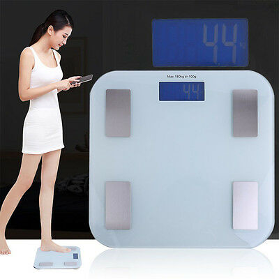440lbs Multifunction Weight Scale Body Fat Bone Muscle BMI Monitor Composition