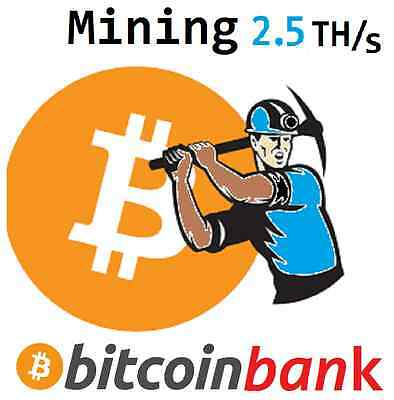 BITCOIN MINING 2.5TH/s Six Month Contract 0.354 BTC Digital-Coin Crypto-Currency