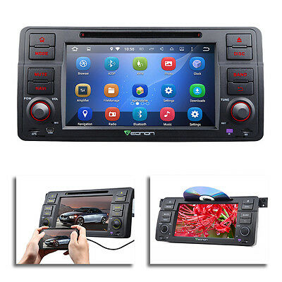 """Android 5.1.1 7"""" Multimedia Car DVD Player GPS w  EasyConnection for BMW E46"""