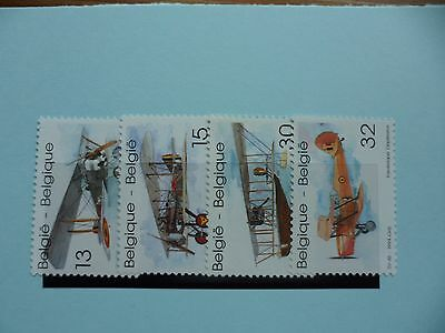 Belgium Stamps, 1994, Biplanes, SG3215-3218, Mint never hinged