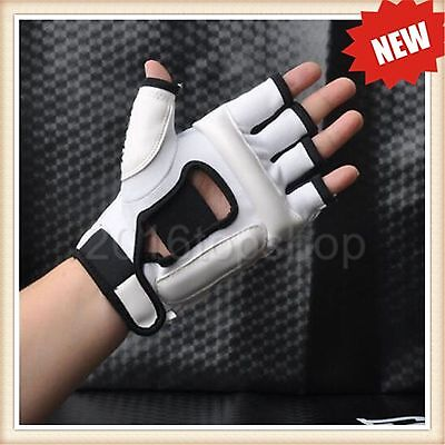 White Kids /A Taekwondo Gloves Sparring Hand Foot Protector Cover Boxing Gloves