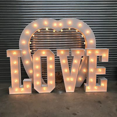Giant 4ft LOVE Letter Kit  Hand Made for Wedding Venues (Unpainted 12mm MDF)