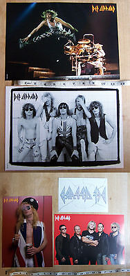 Two Def Leppard Double Sided Posters and a Window sticker