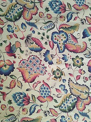 Small panel Vintage 1930s printed floral cotton fabric