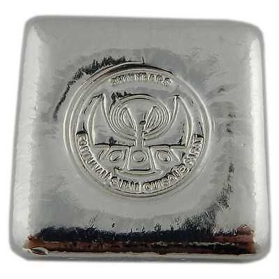 "Hand Poured 5 oz Silver Bar ""Logo Square"" 