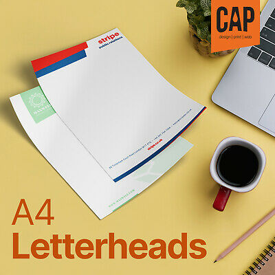 Letterhead & Stationery Printing • 120Gsm Full Colour A4 Letterheads / Invoices