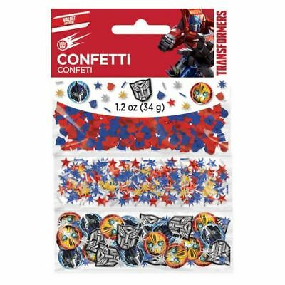Transformers Optimus Prime Bumblebee Party Table Decoration Confetti Sprinkles