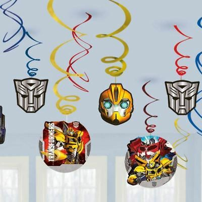12 Transformers Hanging Swirls Childrens Birthday Party Decorations
