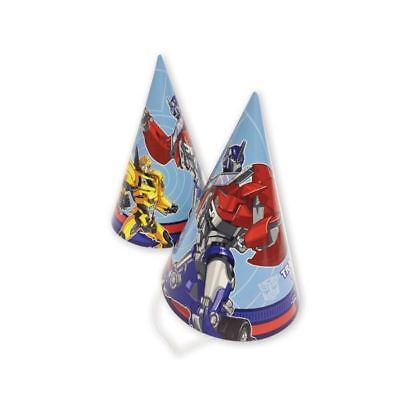 8pk Transformers Prime Bumblebee Birthday Party Paper Cone Hats