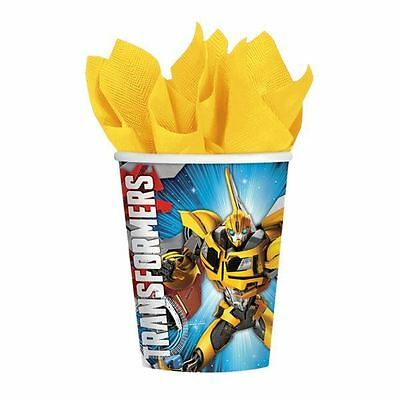 8pk Transformers Cups 266ml Children's Birthday Party Tableware