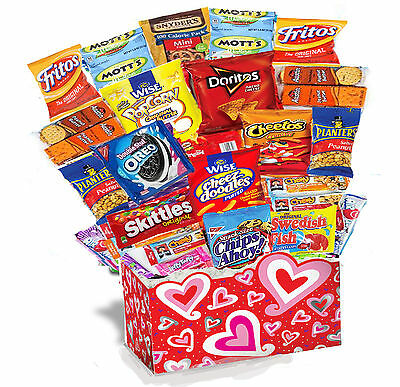 Valentine's Day 30 PIECES Snack Care Package Snack Gift Party