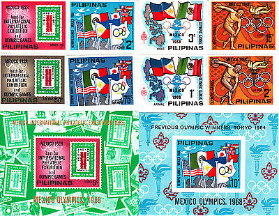 Philippines 1968 Summer Olympic, Mexico 1968, MNH, perf. #2