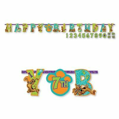 Scooby Doo Jumbo Add Age Happy Birthday Banner Party Decorations