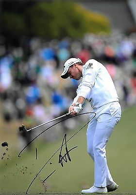 danny willett making a shot masters 2016 signed 12x8 photo PROOF