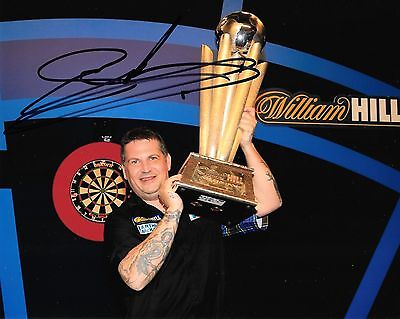gary anderson with the world championship trophy signed 10x8 photo PROOF