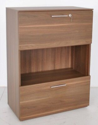 Office 2 Drawer shelf Bookcase Walnut  Storage Office Cupboard Free Delivery