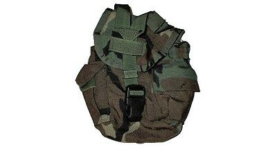 Army Military Surplus MOLLE II Woodland Camo Canteen Carrier Utility GP Pouch GU