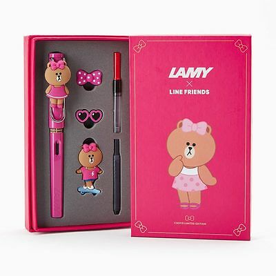 LAMY x LINE FRIENDS Safari Fountain Pen CHOCO Limited Edition Official Goods