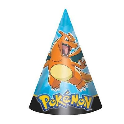 8pk Pokemon Paper Hats Children's Birthday Party Favours Loot