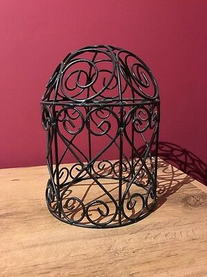 2 x Black wrought iron / wire lightshade