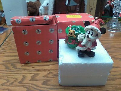 2 Mickey Mouse as Santa Carrying Toy Bag Candle Holder