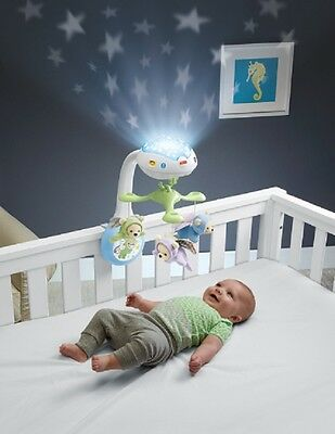 Fisher Price Butterfly Swing Dreams Projection Mobile Musical Baby Projector