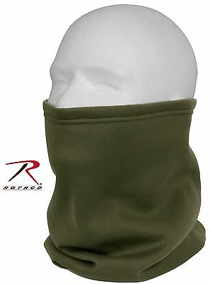 Olive Drab Winter Neck Gaiter - Rothco Cold Weather Polyester Fleece Face Warmer