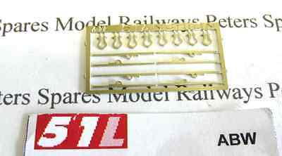 51L ABW Bolster Wagon Stantions and Shackles (Pk8) OO Gauge