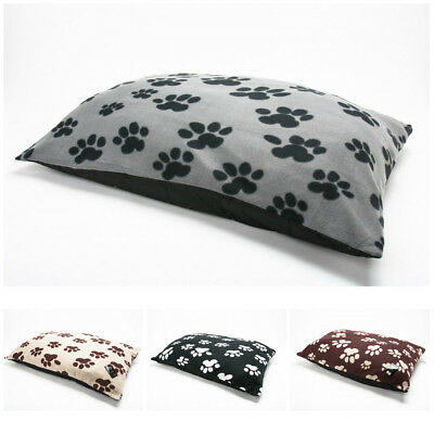 Large Fleece Dog Pet Bed Pillow Cushion with Removable Zipped Cover 95cm x 65cm