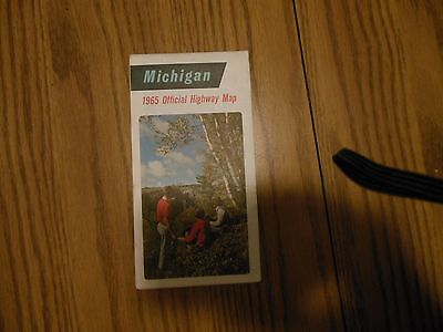 1965 Official Highway Map Michigan