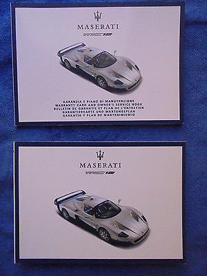 """maserati mc12 owner""""s manual and warranty booklet again"""