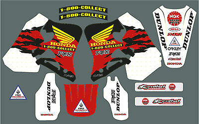 CR 125 & 250 95-97 Mcgrath style vintage graphic/decal kit  FREE UK SHIPPING